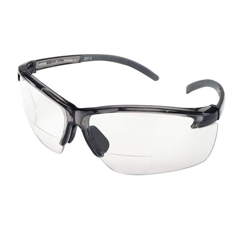 with glasses msa safety works bifocal safety glasses with clear lenses