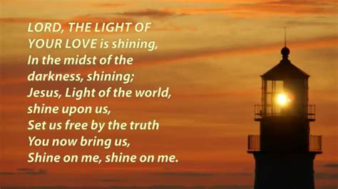 lor lights lord the light of your shine jesus shine