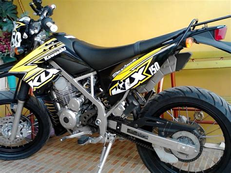 Modifikasi Motor Kawasaki by Modifikasi Kawasaki Klx 150s Terbaru Modifikasi Motor