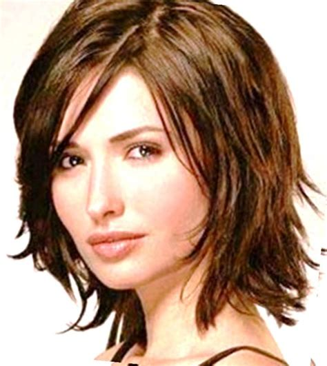 medium length wash wear hairstyles wash and wear short hairstyles with full bangs over 50