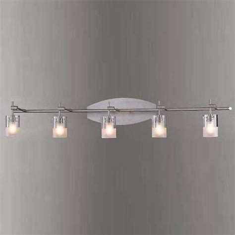 brushed nickel five light bath fixture george kovacs 5 or