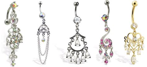 chandelier belly button rings dangling belly button rings