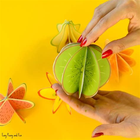 fruit crafts for 3d paper fruit craft easy peasy and