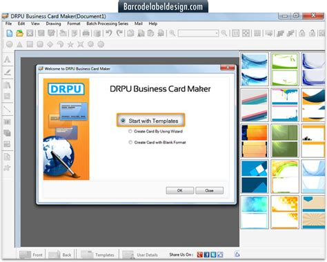 program to make business cards screenshots of business card maker software to how to