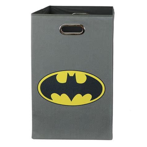 batman laundry modern littles batman logo gray folding laundry basket