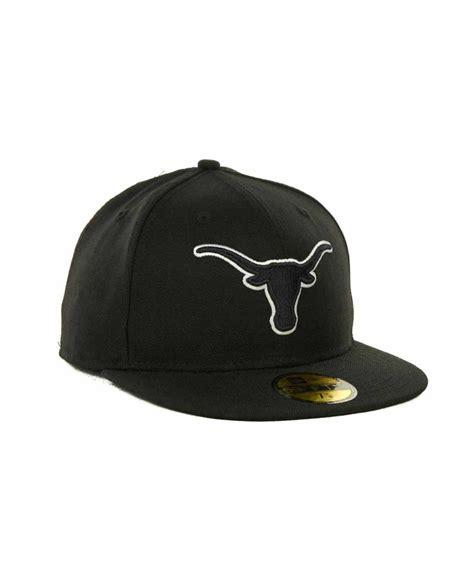 new era black on black ktz texas longhorns black on black with white 59fifty cap