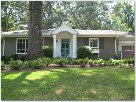 paint colors for exterior ranch style house includes paint colors curb appeal bricks