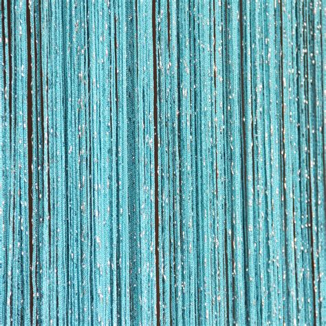 string curtains blue string curtain