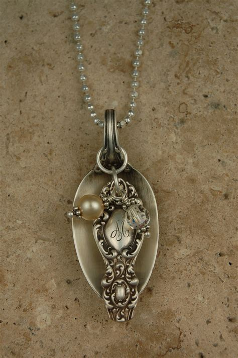 how to make silver spoon jewelry eclectic earth antique silver spoon necklaces