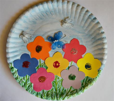 paper plate crafts for paper plate garden paper plate crafts indoor and