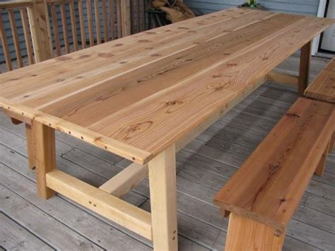 cedar dining tables 25 best ideas about outdoor dining tables on