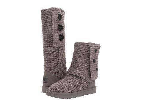 ugg australia classic cardy knit boot ugg australia classic cardy boot 1016555 grey wool