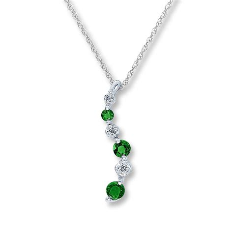 emerald necklace jared emerald necklace accents 10k white