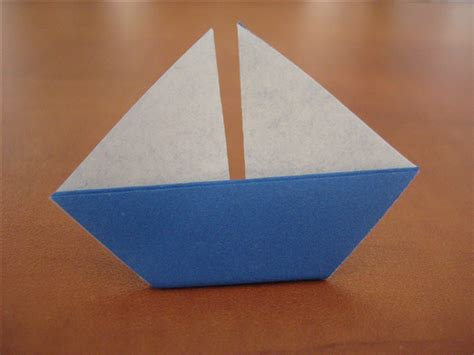 origami sail boat how to fold a simple origami sailboat