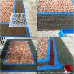 chalk paint jute rug how to stencil a pretty diy rug with chalk paint floor