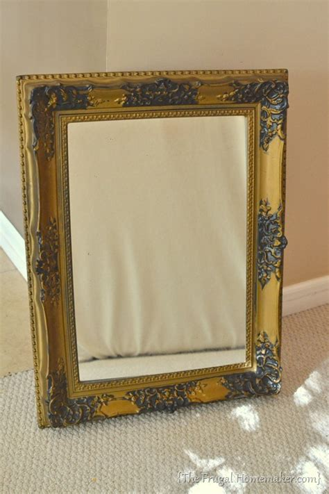 spray painting frames spray painted gold yard sale mirror how to spray paint a