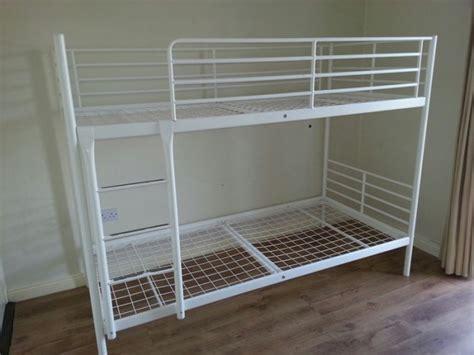 ikea white metal bunk bed bunk beds white metal my