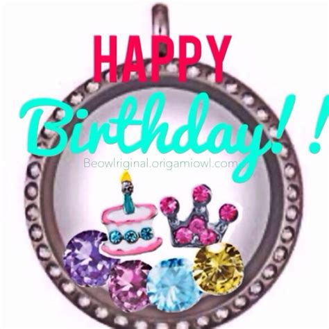 origami owl birthday locket pin by jeannette pacheco on origami chains