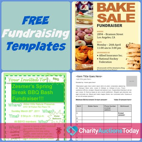 free printable flyers free fundraiser flyer charity auctions today
