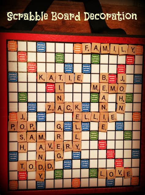create a scrabble board four front doors scrabble family decoration