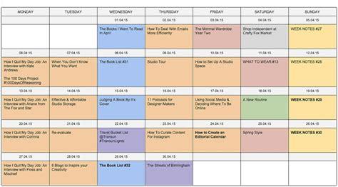 editorial calendar for website content marketing