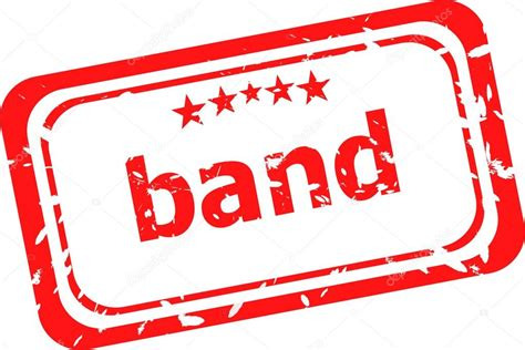 rubber st words band word on rubber grunge st stock photo
