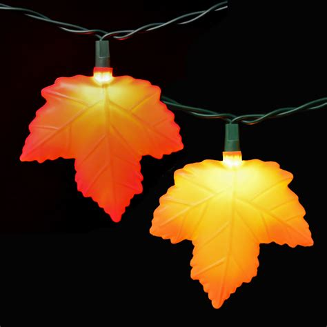 autumn string lights autumn leaf string lights 10 lights
