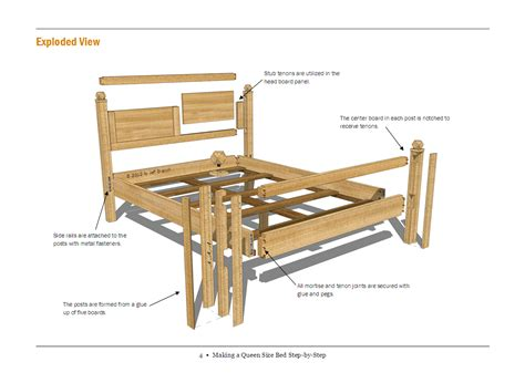 free plans woodworking woodwork free bed plans pdf plans