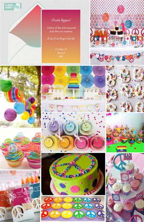 decoracion para fiesta hippie invitaciones de cumplea 209 os e ideas para celebrar una