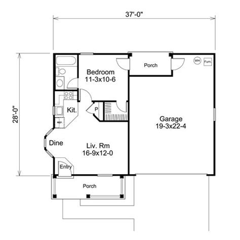 1 bedroom garage apartment floor plans adu sles