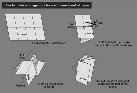 how to make origami book edward pun for mini book
