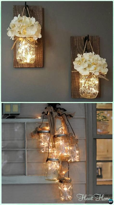 diy hanging decorations diy jar lighting craft ideas