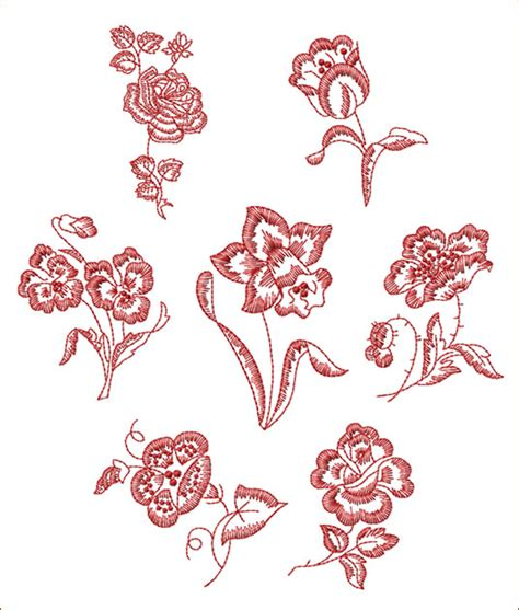 Free Flower Embroidery Pattern Free Embroidery
