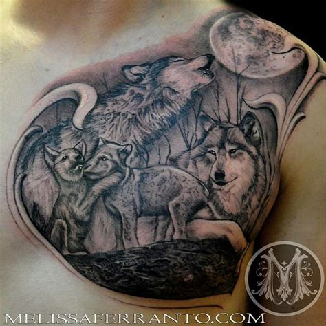wolf pack tattoo by melissa ferranto tattoos