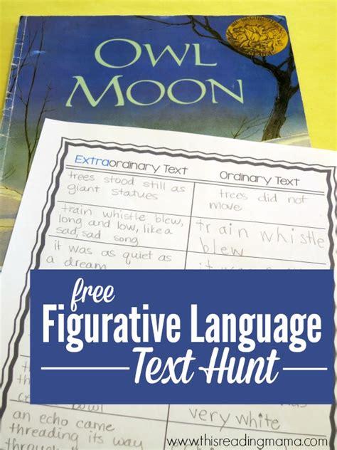 figurative language picture books figurative language scavenger hunt through text
