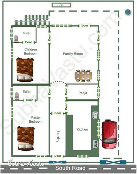 vastu floor plans facing south facing home vastu plan subhavaastu