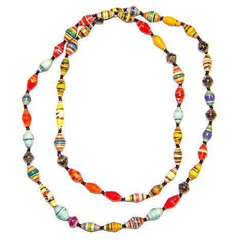 paper bead jewelry marejesho paper bead necklace 187 intrinsic styles