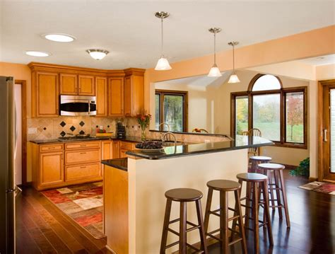 kitchen with breakfast bar designs open kitchen with breakfast bar kitchen cleveland by