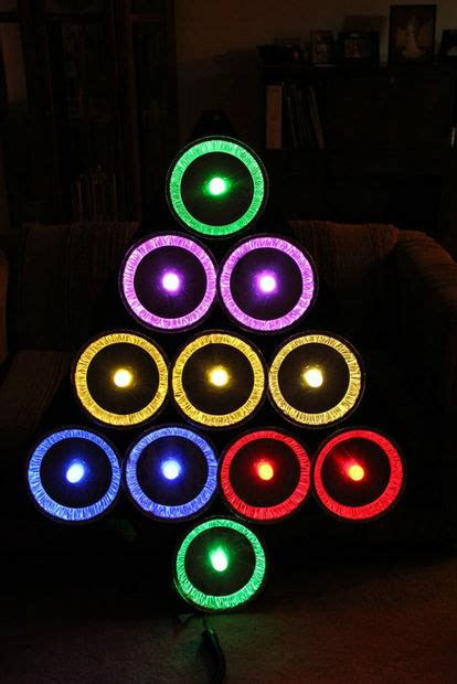 ge color effects lights pie tin tree with ge color effects led lights 7