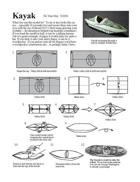dollar bill origami diagrams kayak diagram money origami dollar bill origami i