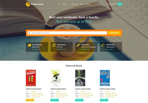 picture book websites 25 best book website templates 2017 freshdesignweb