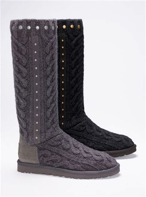 knit boots s secret feliciana cable knit boot in gray