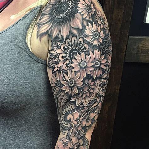 mandala flowery sleeve best tattoo design ideas