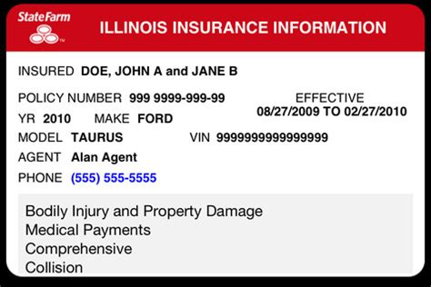 how to make a auto insurance card 6 best images of progressive insurance card template