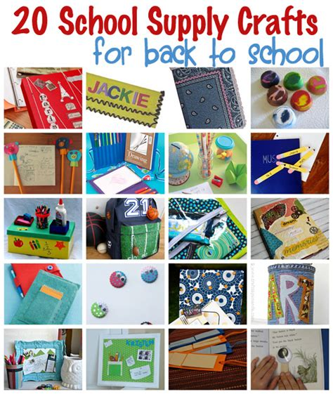 school crafts 20 school supply crafts for back to school familycorner 174