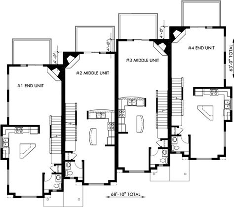 townhome floor plan floor plan 2 for f 540 townhouse plans 4 plex house