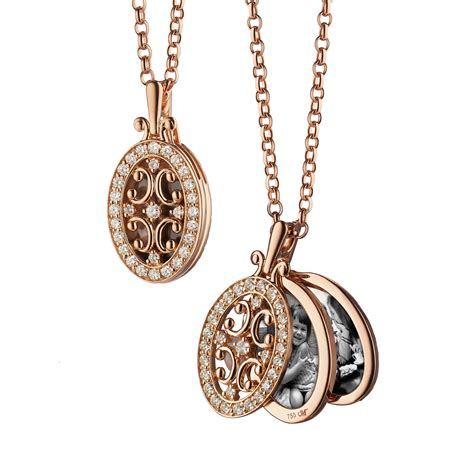 jewelry lockets oval gate locket necklace with border