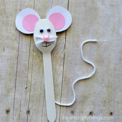 mouse paper craft wooden spoon mouse craft for i crafty things