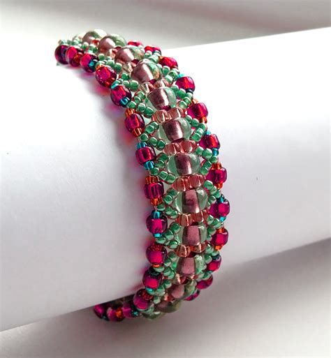 beading designs for bracelets free pattern for amazing beaded bracelet magic forest u