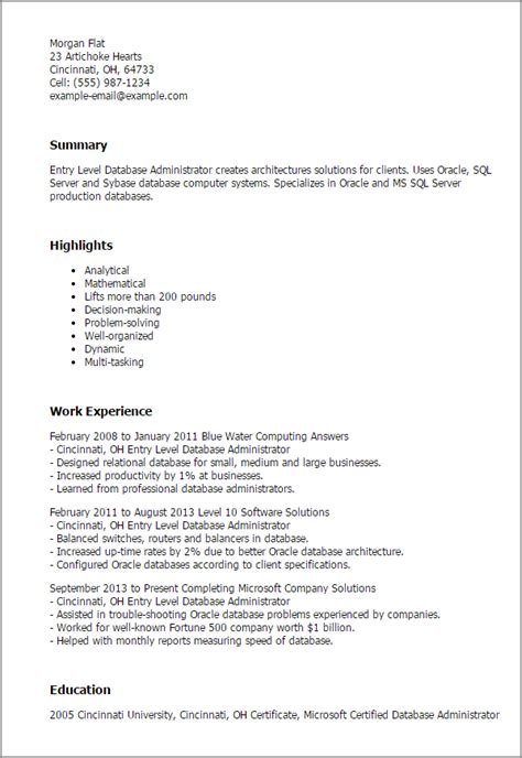 inspirational cover letter for database administrator 53